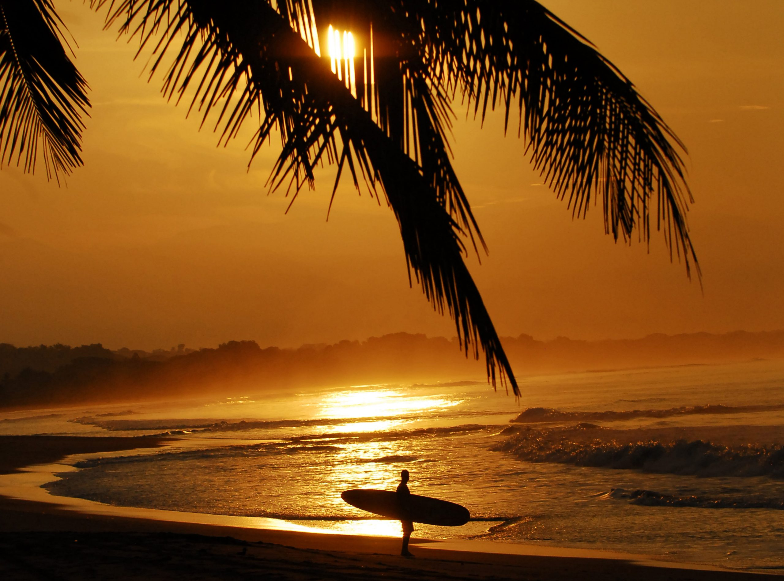 Costa Rican Sunset in the best surf town Tamarindo